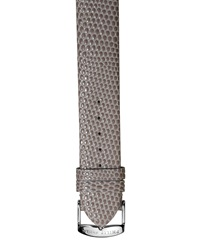 Philip Stein Teslar Philip Stein 20Mm Lizard Embossed Leather Watch Strap Gray