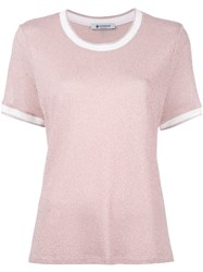 Dondup Pleated Back T Shirt Pink Purple