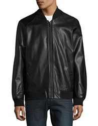 Michael Kors Perforated Faux Leather Jacket Black