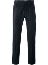 Jacob Cohen Handkerchief Back Detail Trousers Blue