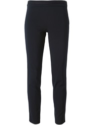 Emporio Armani Cropped Slim Trousers Blue