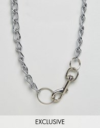 Reclaimed Vintage Chunky Chain Necklace Silver