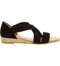 Office Hallie Cross Strap Espradrilles Black Suede