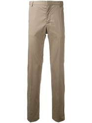 Cerruti 1881 Straight Leg Trousers Brown