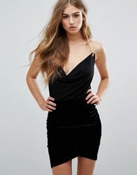 Missguided Chain Detail Cowl Neck Cami Top Black