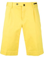 Pt01 Bermuda Shorts Men Cotton Spandex Elastane 56 Yellow Orange