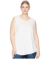 Aventura Clothing Plus Size Dharma Tank Top White Sleeveless