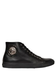 Versus Lion Medallion Leather High Top Sneakers