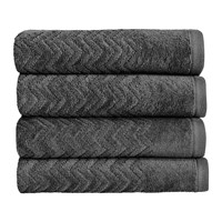 Christy Chevron Towel Graphite Hand Towel