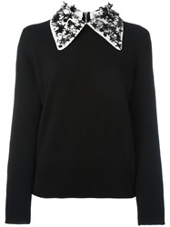 Paul Smith Jeans Sequin Star Collar Jumper Black
