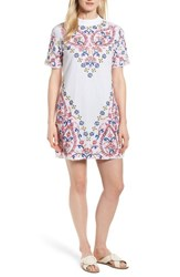 Kas New York Fleur Embroidered Cotton Minidress White