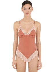 Love Stories Doris Bodysuit W Lace Dark Orange