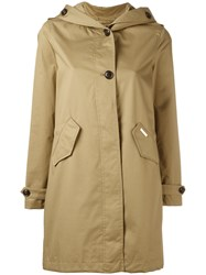 Woolrich Hooded Trench Coat Nude Neutrals