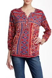 Lucky Brand Diamond Print Tee Multi