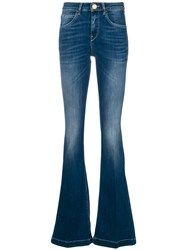 L'autre Chose Faded Flared Jeans Blue