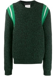 Stella Mccartney Knitted Striped Jumper Black