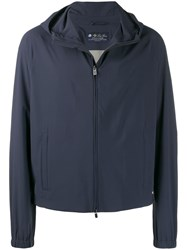 Loro Piana Hooded Active Jacket Blue