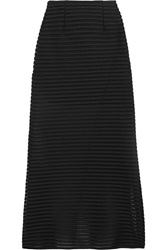 Maje Jeunesse Honeycomb Mesh And Jersey Maxi Skirt