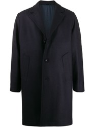 Officine Generale Single Breasted Coat Blue
