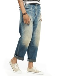Denim And Supply Ralph Lauren Distressed Relaxed Fit Jeans Blue