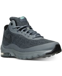 Nike Men's Air Max Invigor Mid Running Sneakers From Finish Line Cool Grey Black Green Glo