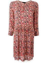 Zadig And Voltaire 'Riva Print Eve' Dress Red