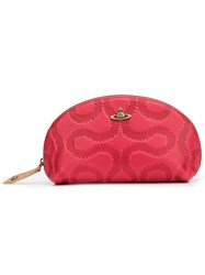 Vivienne Westwood 'Squiggle' Round Make Up Bag Red
