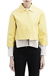 Marni Cropped Leather Jacket Green