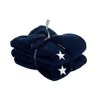 Gant Stars Guest Towel Set Of 2 30X45cm Midnight Blue