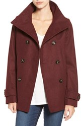 Thread And Supply Women's Double Breasted Peacoat Oxblood