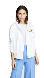 Courreges Snapped Hooded Jacket White