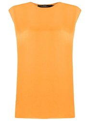 Andrea Marques Sleeveless Blouse Yellow And Orange