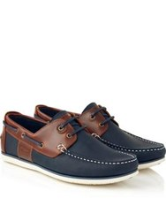 Barbour Capstan Moccasin Boat Shoes Navy Brown Navy Brown
