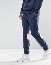 Ellesse Joggers With Panel Logo Navy