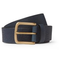 Andersons 3Cm Navy Full Grain Leather Belt