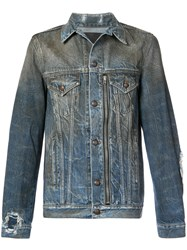 R 13 R13 Oil Washed Denim Jacket Blue