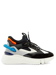 Buscemi Veloce 2 Leather And Suede Trainers White Multi
