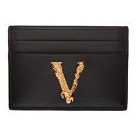 Versace Black Virtus Card Holder
