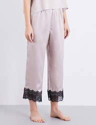 Nk Imode Lace Detailed Silk Satin Pyjama Trousers Sand
