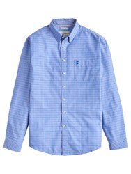 Joules W Welford Small Check Shirt Storm Blue Check