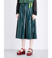 Toga Pleated Laminated Skirt Green
