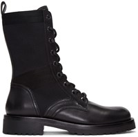 Diesel Black Gold Leather High Boots
