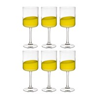 Bitossi Home Spot Goblets Set Of 6 Yellow