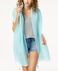 Inc International Concepts I.N.C. Tassel Pleated Wrap Created For Macy's Turquoise