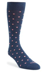 Etiquette Clothiers Dot Socks Navy