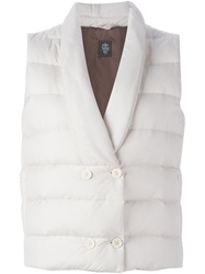 Eleventy Double Breasted Padded Gilet Nude And Neutrals