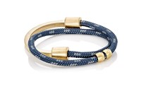 Miansai Men's Modern Half Rope Bracelet Black