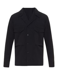 Christophe Lemaire Two Pocket Wool Blend Field Shirt Navy