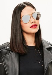 Missguided Gold Aviator Sunglasses