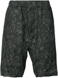 Chapter Floral Print Shorts Men Cotton 30 Black